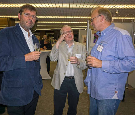 Ken Whalley, John Childs und Clubmitglied Berthold Schinke