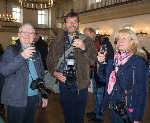 John Childs, Ken Whalley und Gabi Hofmann vom Photo-Cirkel Oberursel