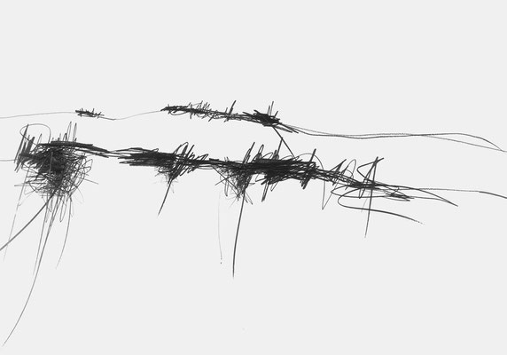Serie EMSCHER, Flussabschnitt 6, Grafit Zeichnung Thomas Autering