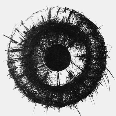 Serie SOUND 4, monochrome Grafit Zeichnung Thomas Autering