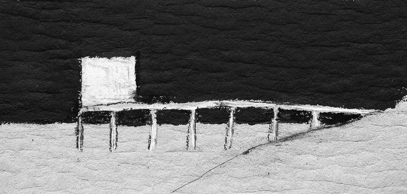 Zeichnung BRÜCKE, Mischtechnik, Thomas Autering