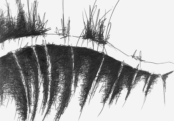 Serie EMSCHER 2, monochrome Grafit Zeichnung Thomas Autering
