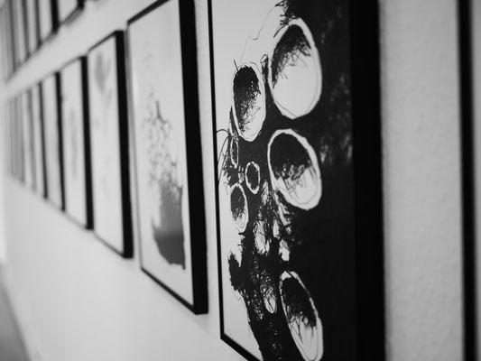 Ausstellung BRACHE 6, Zeichnungen Thomas Autering