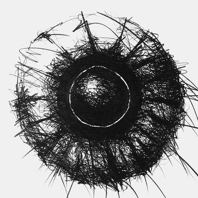 Serie SOUND 5, monochrome Grafit Zeichnung Thomas Autering
