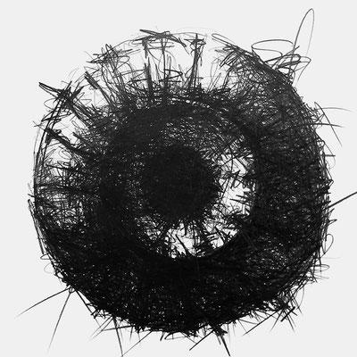 Serie SOUND 3, monochrome Grafit Zeichnung Thomas Autering