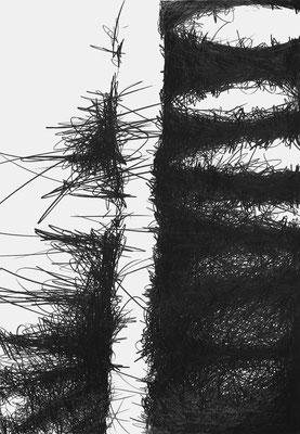Serie EMSCHER, Flussabschnitt 3, Grafit Zeichnung Thomas Autering