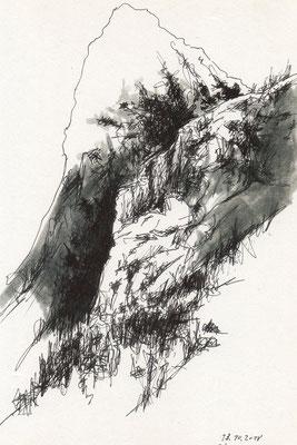 Serie HURTIGRUTEN 2, Zeichnung Mischtechnik, Thomas Autering