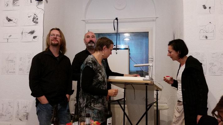 Ausstellung EINTOPF 1, Silvia Liebig, Thomas Autering, blam! Produzentengalerie