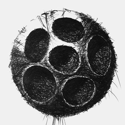 Serie SOUND 6, monochrome Grafit Zeichnung Thomas Autering