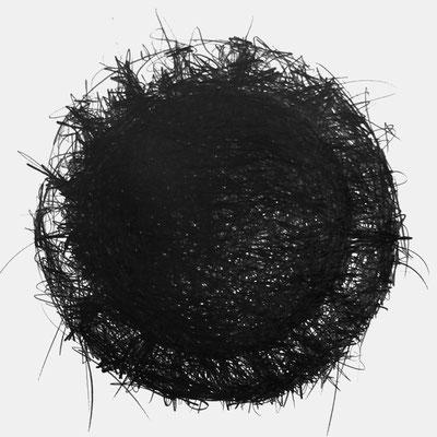 Serie SOUND 1, monochrome Grafit Zeichnung Thomas Autering
