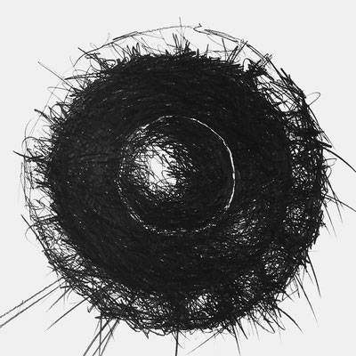 Serie SOUND 2, monochrome Grafit Zeichnung Thomas Autering