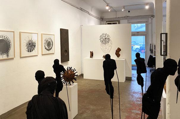 Ausstellung ARTGENOSSEN 2020, Sebastian Wien, Dina Nur, Thomas Autering