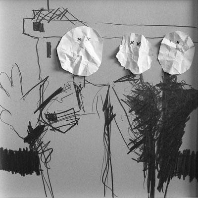 Serie Apollo 13, Collage 6, Mischtechnik, Thomas Autering