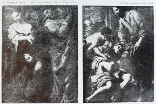 Antonio Zanchi(1631-1722), Makarska, Adultera und Heilung eines Lahmen