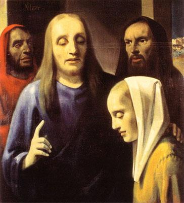 Han van Megeren (1889-1947) Fälschung Vermeers von 1941/42 Lw.96x88cm