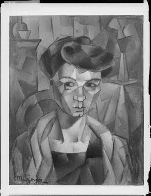 Metzingers Ehefrau Lucie 1911, Gallatin Collection Philadelphia Mus.of <art