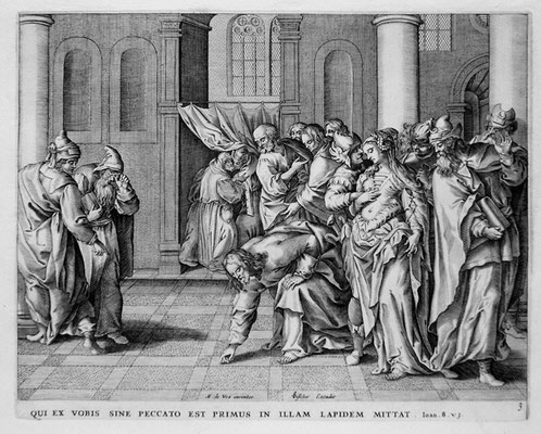 Barbé de Vos, Christus und die Ehebrecherin