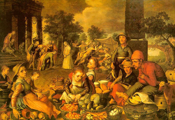 "Pieter Aertsen(1508-1575), Frankfurt Staedel, ""1559"" (Holztafel 123x179cm)"