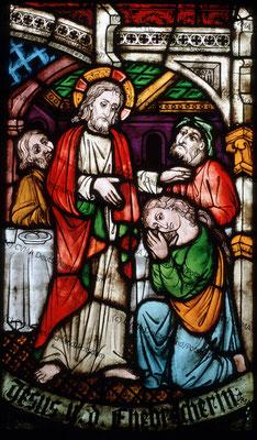 Halberstadt Glasmalerei 19.Jh mit mittelalterl. Aszendenz