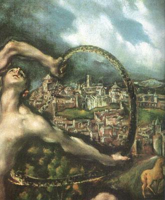 idem, Detail: Troja-Toledo (westliche Stadt)