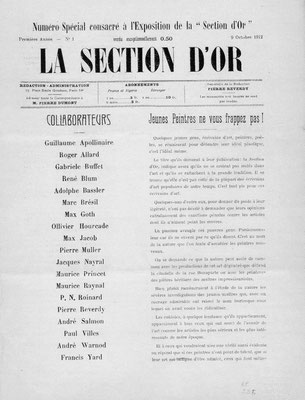 Titelseite der Section d'Or 1912
