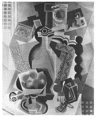 Jean Metzinger, nature morte 4-1918 Lok.unb. selbe Uhr oben Mitte