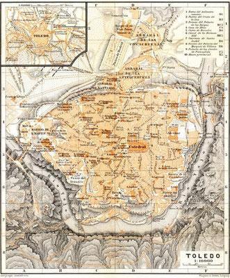 Stadtplan Toledo ca. 1925 (Baedeker)
