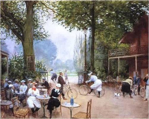 Jean Béraud (1849-1936) Le chalet du Cycle au Bois de Boulogne um 1900, Paris Ms.Carnavalet