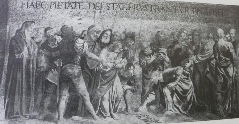 Venedig, San Marco, Mosaikersatz der MA- Ehebrecherin im 17.Jh.