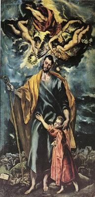 Hl.Joseph Toledo, San José, (Lw.289x147cm ) Toledo-Vedute zweigeteilt