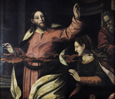 (attr.)Bartolomeo Coda (Rimini, dok.1516-1563) Tafel 109x124cm, Cesena, Pin.com.(Fragment)