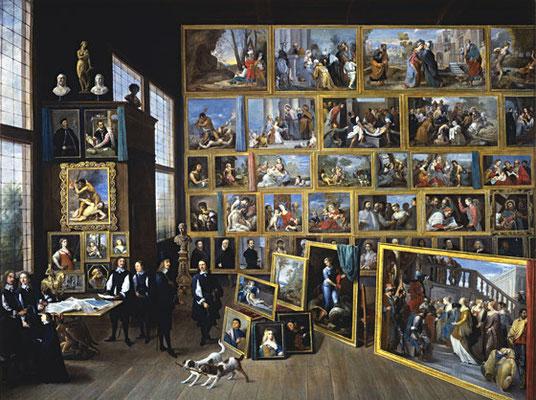 David Teniers d.J., die Sammlung Leopold Wilhelms 1651 (Tizians Adultera: Bildmitte)