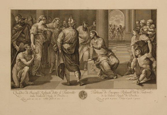 Ph.A.Kilian (1714-1759) Kupfer (43,5x68cm) nach T. in Dresden von 1753/57