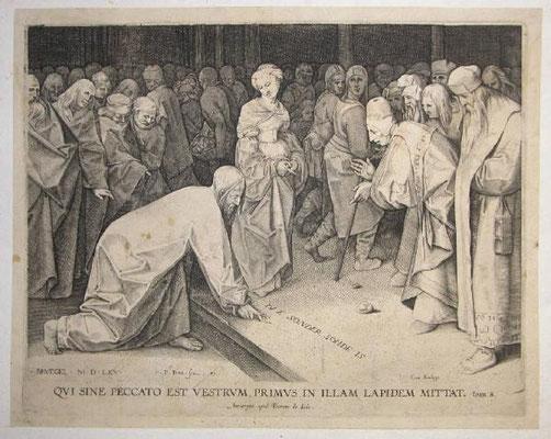Pieter Perret (1555-1625) nach Brueghel 1579 Kupfer 34,3x26,8cm(Villa Vigoni Menaggio)