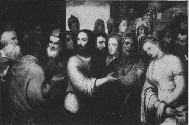 """einst als """"tizianisch"""", viell. Silvio (ca 1495-1552), Lw.130x198cmMus. Bordeaux"""