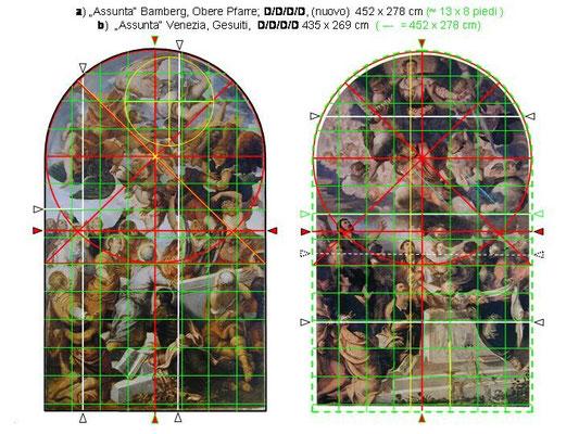 Bamberger und Gesuiti-Himmelfahrt Mariens (Fussraster in Vergleich)