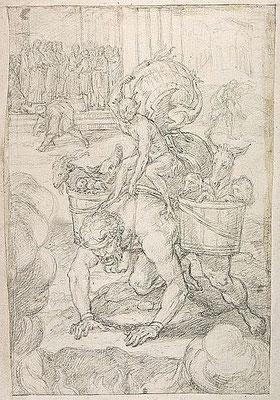 anonym ital. XVII Jh. Louvre ,Teufelsallegorie mit E. im Hintergrund
