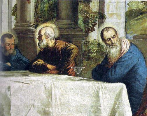 Lavanda Madrid, Prado Detail: leerer Abendmahlstisch mit Eucharistiekelch Christi