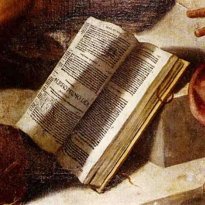 Bamberger Himmelfahrt, die aufgeschlagene Bibel (und rotes Merkband)