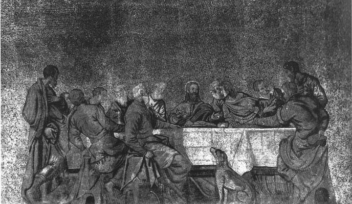 7)G.Bianchini nach Werkstatt Tintorettos, Ultima Cena Mosaik 1568, Venedig, Basilika San Marco