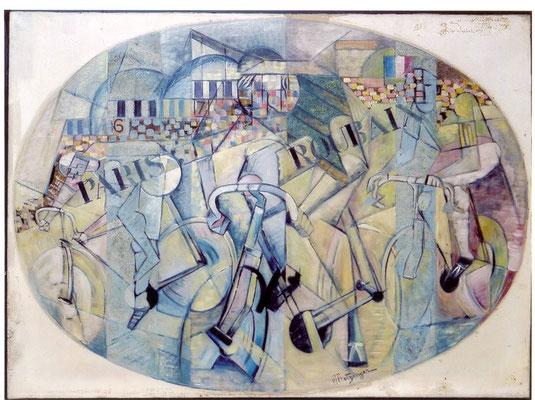 """W.Beltracchi (verm.) """"Radrennen"""" (nach Vorbild Guggenheim) Fälschung"""