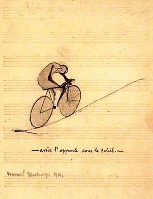 Marcel Duchamp, avoir l'apprenti dans le soleil, Zeichnung 1914