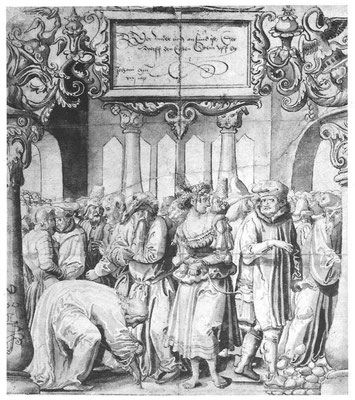 Niklaus Manuel Deutsch(1484-1530 Bern) Scheibenriss (Ashmolean Mus. Oxford)1527
