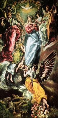 El Greco, Himmelfahrt Mariens, Lw.347x174cm, Toledo, Museo Santa Cruz