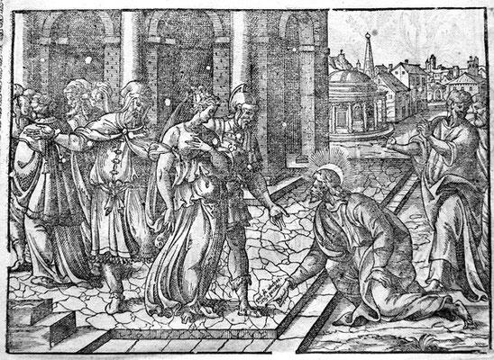 Jean Cousin (1522-1594), Femme adultère, Kupferstich