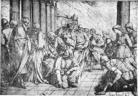 "Francesco Palmieri nach Luca Giordano Stich (1653)  von ""1658"" (Rom)"