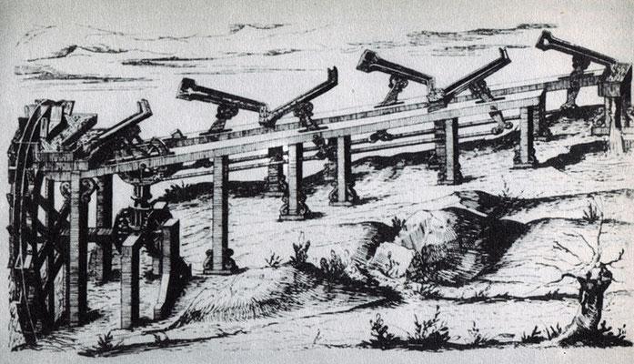 Juanelo Turriani Wasserkunst für Toledo (in Funktion zw.1565 und 1639)