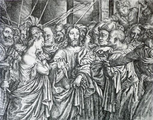 Marc Duval (um 1530-1581), Kupferstich nach Lorenzo Lotto (Louvre)