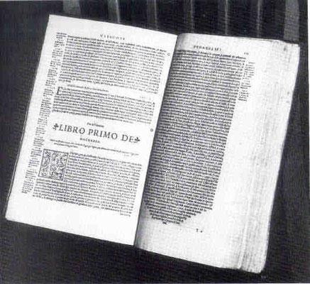 Nat.Bibl.München: Volgareausgabe der Bibel Marmochinos von 1538