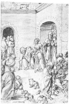 """Lukas Cranach d.Ä.(1472-1553),H.A.U.-Mus.Braunschweig """"1509"""" Zeichn. 29,9x19cm"""